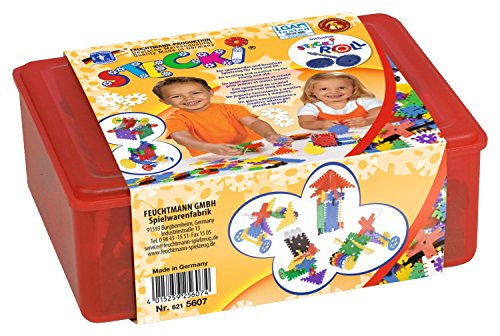 Feuchtmann Spielwaren 6215607 - Stecki Geo Konstruktions-Set One for Two, Box Maxi, 400 g, sortiert