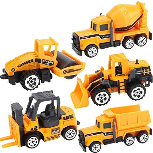 FIRMON Mini Classic Construction Engineering Truck Alloy Models Cars Toy Sets für Kinder Gr. Einheitsgröße, gelb -