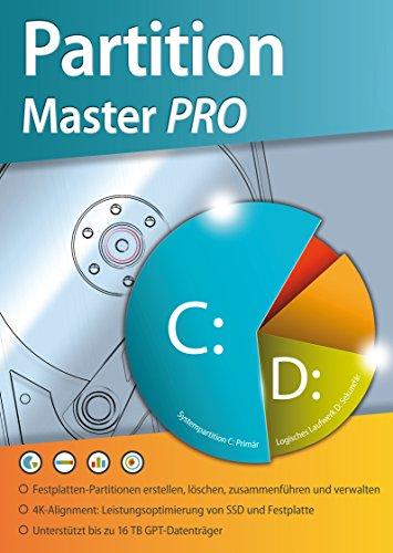 Partition Master PRO - Festplatten Partition, Löschen, Bearbeiten, Verwalten - für Windows 10-8-7-Vista 32 und 64 - Festplatte Löschen