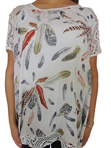 Verschiedene Farben Damen Blusen zur Auswahl Größe 46, 48, 50, 52, 54 Weiß