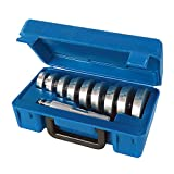 Silverline 486869 Accesorios para Instalar Retenes y Rodamientos, Plata, 40-81 mm, Set de 10 Piezas