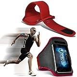 (Red) BlackBerry Priv Fitness Laufen Jogging Radfahren Gymnastik-Armbinde-Halter-Kasten-Abdeckung ONX3®