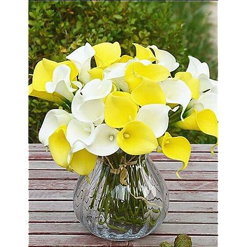 flores artificiales, Plástico Lirios Flores Artificiales , blue