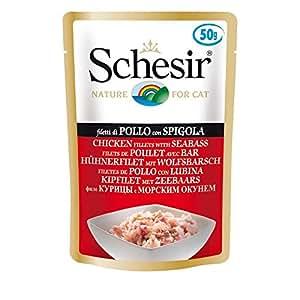 Schesir Cat filetto di pollo/branzino   30X 50G katzenf