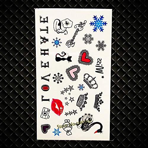 GVDTYKJF Tatuajes Temporales Paraguas Diseños Flash Falso Tatuajes Metálicos Wobody Art Arm Piernas Pegatinas Niños Oro Tatuajes Impermeables Gx417