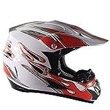 YWLG Motorradhelm Straßenrennen Offroad-Helm Full-Face Modularer Motocross-Helm Mehrfachfarbe,Y-XL