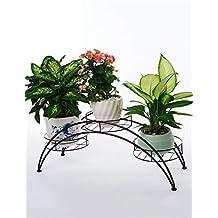 Racks de flores multiusos Estilo Europeo Puente De Capa Múltiple De Tipo De Hierro Suelos De Macetero Para Balcón Cubierto Para interiores y exteriores