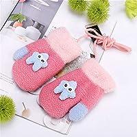 Babyhandschuhe Kreative Nette Winter Verdicken Säuglingsmädchen Jungen Kleinkind Kinder Kinder Gestrickte Warme Handschuh (Farbe : Rosa)