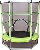 Costway Trampoline Enfant Ø 140 cm avec Filet de Protection Trampoline Fitness Rond pour Intérieur et Extérieur Charge Max 50 KG