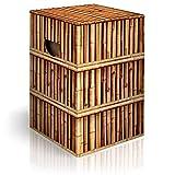 murando Papphocker Motiv Bambus 45x30x30 cm faltbar Papier Hocker ergonomischer Karton Photohocker Falthocker f-C-0323-ap-a