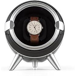 Klarstein Sindelfingen Uhrenbeweger für 1 Uhr (Aufnahme einer Automatikuhr, 4 Bewegungs-Modi, elegantem, schwarzem Samtkissen.)