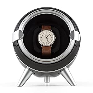 Klarstein Sindelfingen Uhrenbeweger, für 1 x Automatikuhr, 4 Bewegungs-Modi, Sichtfenster, schwarz oder weiß