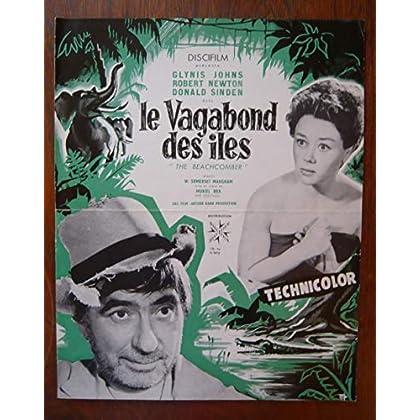 Dossier de presse de Le Vagabond des îles (1954) – 31x48cm - Film de Muriel Fox avec G Johns, R Newton, D Sinden – Photos N&B – résumé scénario – Bon état.