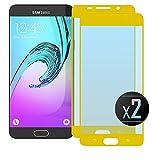 NEVEQ 2 x Samsung Galaxy A5 2016 (Gold) Panzerglas, Schutzfolie aus Hochwertigem gehärtetem Glas für Samsung Galaxy A5 (2016) Full Screen Gold (5.2 in) Zoll-Display, 9H-Härte Displayfolie.