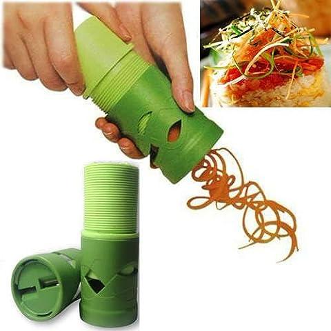 Kabalo Facile Veggie Twister Spiral Cutter Slicer Coupe / Epluche / Tranche Légumes et Fruits Multifonction - Pour Cuisine Décorative en spirale ou en bâton