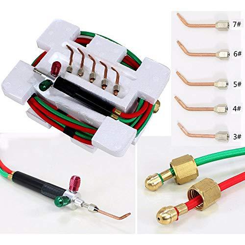 Löten Schneidbrenner Schweißwerkzeug Little Smith Gasbrenner Schmuck Werkzeuge 1 Satz mit 5 Spitzen connetor mit Sauerstoff Butan -