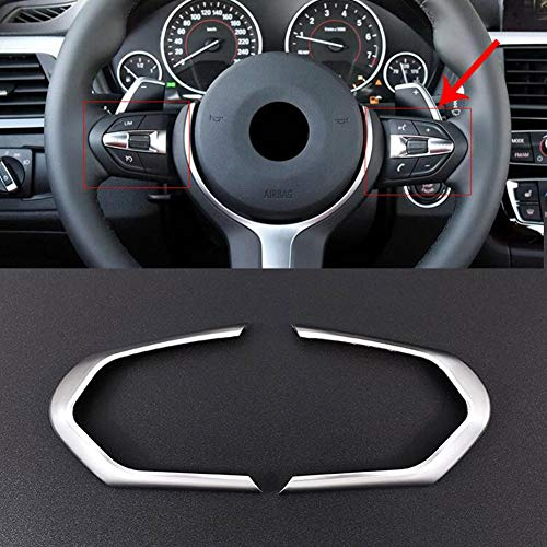ABS Argent mat volant Bouton Cadre Garniture pour pour F20 F22 F21 F30 F32 F33 F36 F06 F12 F13 X5 F15 M-sport X6 F16