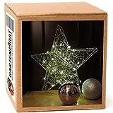 Stern mit Batterie Timer 38 cm 30 LED Metall Drahtstern beleuchtet
