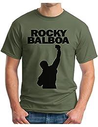 OM3 - ROCKY CITY - T-Shirt BALBOA BOXER 70s 80s The ITALIEN STALLION USA, S - 5XL