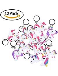 Vpsan Unicorn Licorne Porte-clés Licorne Faveurs pour poche et clé, 12 x pendentif licorne