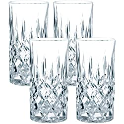 Spiegelau & Nachtmann, 4-teiliges Longdrink-Set, Kristallglas, 375 ml, Noblesse, 0089208-0