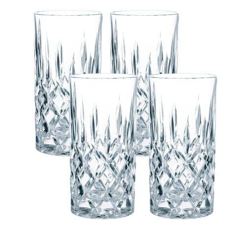 Spiegelau & Nachtmann 4-teiliges Longdrink-Set, Kristallglas, 375 ml, Noblesse, 89208 (Aus Glas)