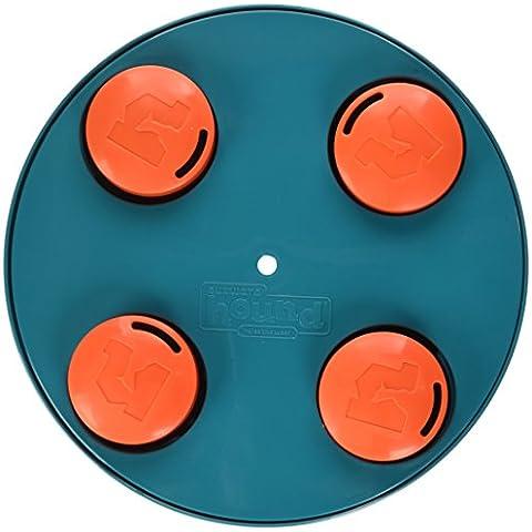 Verso l'esterno Hound Kyjen 41006 Trattare rotella Trattare Toy Dog Toys Profumo Puzzle formazione giocattolo, grande, blu