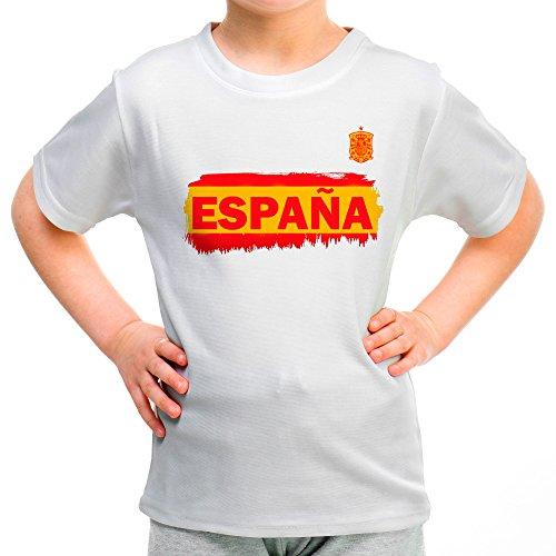 Lolapix Camiseta España Blanca Personalizada con Nombre y número. Camiseta  de algodón. Regalo para 9488eff1b28fd