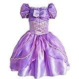 jiaduo nueva princesa Rapunzel disfraz de vestido de fiesta