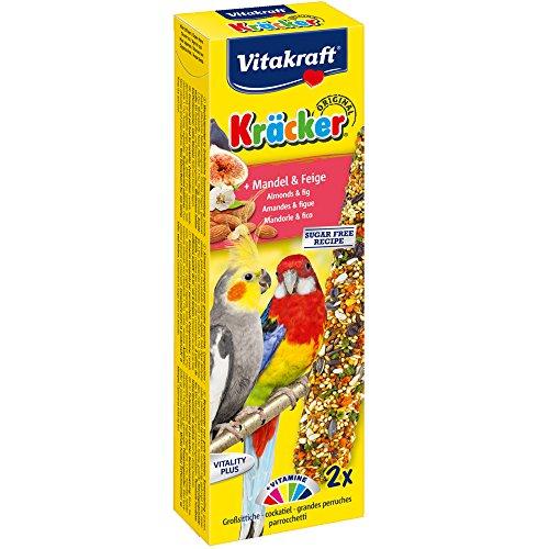 Vitakraft Kräcker, Knabberstangen für Großsittiche mit Mandel und Feige (1 x 2 Stück)
