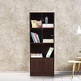 HomeTown Crony Engineered Wood Book Shelf in Wenge Color