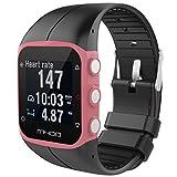 Saisiyiky Para reloj polar m400 correas colores bandas de reemplazo suave silicona correas pulsera...