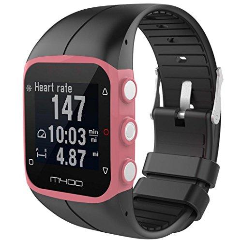 Saisiyiky Para reloj polar m400 correas colores bandas de reemplazo suave silicona correas pulsera para POLAR M430 GPS reloj smartwatch, ancho de banda 23MM