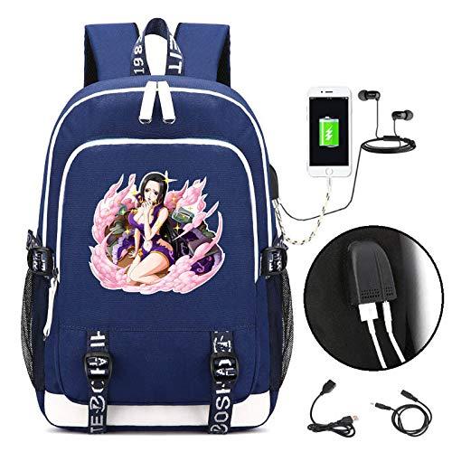 JJJDD One Piece USB-Laderucksack Computertasche Männer und Frauen Schultasche Reisetasche @ - Beliebte Teenager Mädchen Kostüm