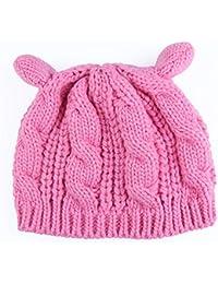 Wireless Bluetooth Hat Beanie Lindo Orejas de Gato Sombrero Fleece Mezcla  Gorros de Punto Sombrero Forrado 23574a0170b