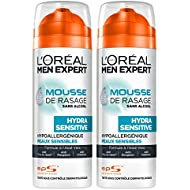 L'Oreal Men Expert Hydra Sensitive espuma de afeitar 200ml Piel Sensible - Conjunto de 2