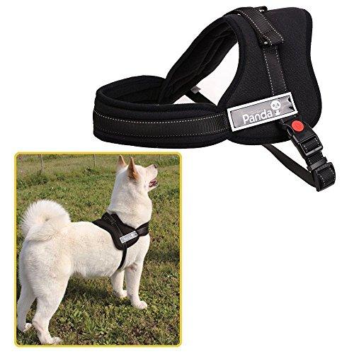 Ecoastal Gamma regolabile morbide coppe imbottite Heavy Duty anteriore No Tirare cane della cassa di fasce in PET cablaggio con manico Outdoor Adventure Vest per addestramento del cane o camminando Nero (L)