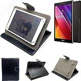 K-S-Trade Schutz Hülle Tablet Case für Asus ZenPad S 8.0, schwarz. Tablet Hülle mit Standfunktion Ultra Slim Bookstyle Tasche Kunstleder