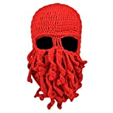 Vbiger Sturmhauben Lustige Bartmütze Stickmütze mit Bart Maske …