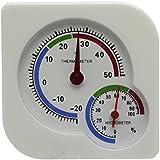 VANKER Mini cubierta colgante de escritorio metro de la temperatura del termómetro húmedo higrómetro analógico blanco