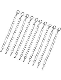 10pcs Verlängerung Halskette Kettenverlängerungen Schmuck Erkenntnisse 75mm