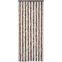 vidaXL Cortina de insectos 90 x 220 cm Marrón-Beige para Salón Dormitorio de su Casa
