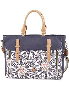 Oilily Damen Office Bag Laptop Tasche, Grau (Charcoal), 12 x 31 x 40 cm