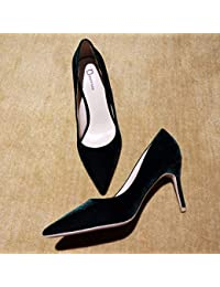 es Vestido Negro Tacón Amazon De Zapatos Terciopelo fxzxwq
