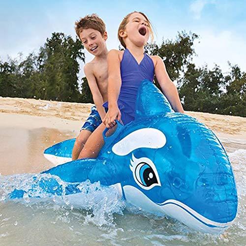 ToDIDAF Schwimmbad schwimmt für Kinder, Schwimmbadzubehör, Cartoon-Schwimmring, Wasser aufblasbares Spielzeug, schwimmendes Bett, geeignet für Sommerurlaub / Poolparty / Reisen (Blauwal)
