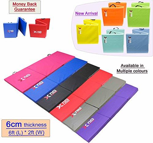 Preisvergleich Produktbild Xn8 dreifach zusammenklappbare Schaumstoffmatte/Yogamatte, 6cm dick, für Zuhause, Fitness, blau
