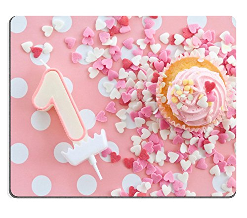 Luxlady Gaming Mousepad immagine ID: 26742928 Little Cupcake con glassa rosa e decorazioni
