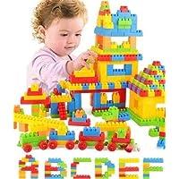 Funkey® Blocks for Kids 190+ Building Blocks Including Wheels Small Size