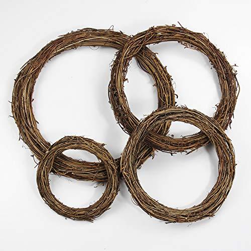 HONGXINYUAN Diy artesanía corona ratán seca natural