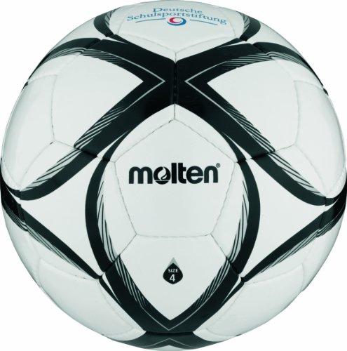 Molten Fußball FXST4, WEISS/SCHWARZ/SILBER, 4